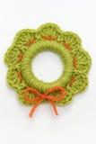 Crochet Christmas Decoration Royalty Free Stock Photography