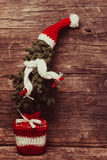 Crochet Christmas tree Stock Images