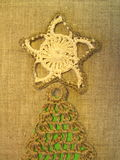Crochet Christmas tree top Royalty Free Stock Images