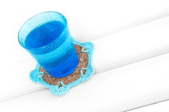 Crochet coaster Stock Image