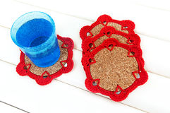 Crochet coaster Royalty Free Stock Photos