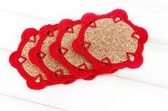 Crochet coaster Stock Photos