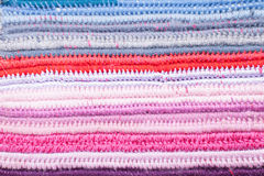 Crochet color background Stock Photography