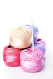 Crochet color threads Stock Images