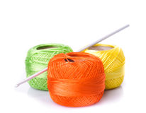 Crochet color threads Royalty Free Stock Photography