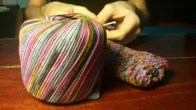 Crochet concentration Royalty Free Stock Images