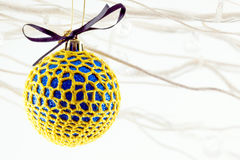 Crochet covered decorations Royalty Free Stock Photos