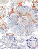 Crochet Doiley Background Design Stock Photo