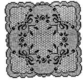 Crochet Doily background Stock Image