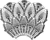 Crochet Doily background Stock Photos