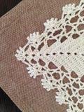Crochet doily. Interior decoration, doily crocheted Stock Photography
