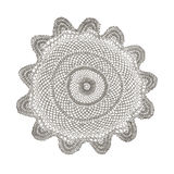 Crochet doily isolated on white Royalty Free Stock Images