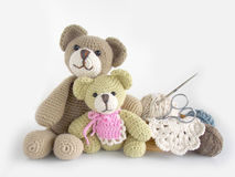 Crochet doll  background Stock Images