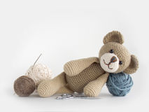 Crochet doll  background Royalty Free Stock Photography