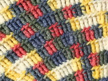 Crochet fabric close-up Royalty Free Stock Photography