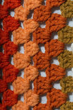 Crochet fabric of different colors Stock Photos