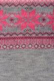 Crochet fabric pattern Royalty Free Stock Image