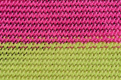 Crochet fabric pattern Royalty Free Stock Images