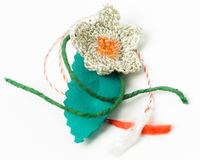 Crochet Flower Handmade Decorative Object Royalty Free Stock Photography