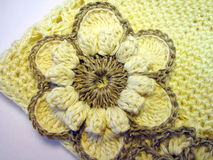 Crochet flower Stock Photo