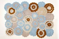 Crochet flowers Royalty Free Stock Photos