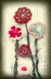 Crochet flowers Royalty Free Stock Photo