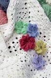 Crochet flowers Stock Photos