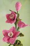 Crochet flowers hellebores stock image