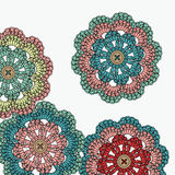 Crochet flowers. Mandala. Royalty Free Stock Image