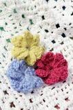 Crochet flowers Stock Photography