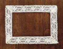 Crochet frame Royalty Free Stock Photography