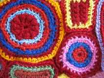 Crochet geometrico Immagini Stock