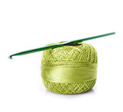 Crochet green threads Royalty Free Stock Photos