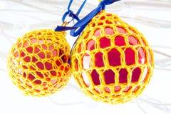 Crochet ha coperto la decorazione Fotografia Stock Libera da Diritti