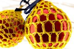 Crochet ha coperto le decorazioni Immagini Stock Libere da Diritti