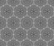 Crochet hexagons seamless pattern. Royalty Free Stock Images