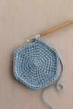 Crochet Hook and Wool Stock Photo