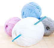 Crochet hook and yarn Royalty Free Stock Photography