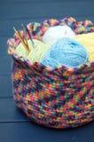 Crochet hooks stock image