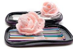 Crochet hooks Stock Photos