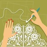 crochet Illustrazione di vettore royalty illustrazione gratis