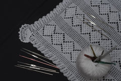 Crochet, Italian manufacture. made in Italy Stock Images