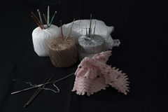 Crochet, Italian manufacture. made in Italy Stock Photos