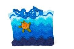 Crochet knitting bag Stock Images