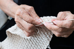 Crochet knitting yarn Royalty Free Stock Images
