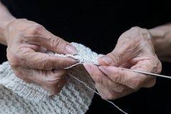 Crochet knitting yarn Stock Images