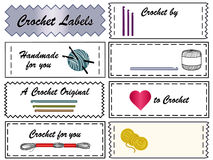 Crochet Labels Stock Photography