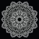 Crochet lace mandala. Royalty Free Stock Images