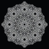 Crochet lace mandala. Stock Photography