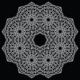 Crochet lace mandala. Stock Image